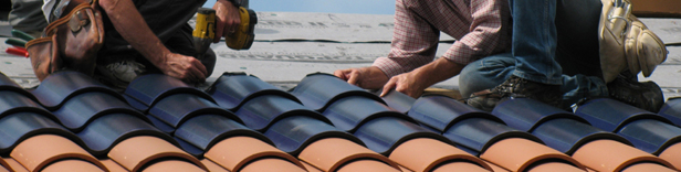 Solceller formet efter tagsten
